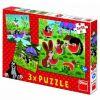 Krtek a paraplíčko - Puzzle 2x55
