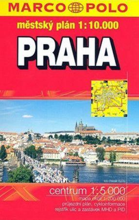 Praha městský plán 1:10 000 cena od 74 Kč