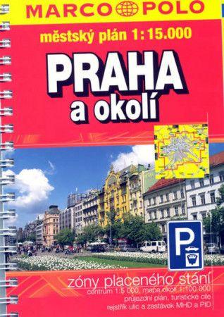 Praha + okolí 1:15.000 městský plán cena od 70 Kč