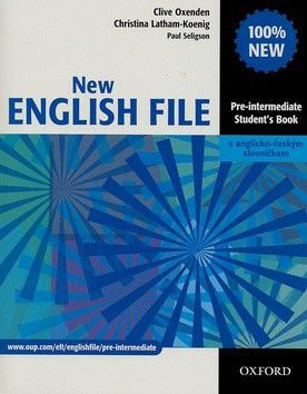 XXL obrazek Clive Oxenden: New English File Pre-Intermediate Student´s Book CZ