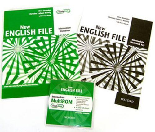 Clive Oxenden, Christina Latham-Koenig: New English file intermediate Workbook key + CD-ROM pack cena od 242 Kč