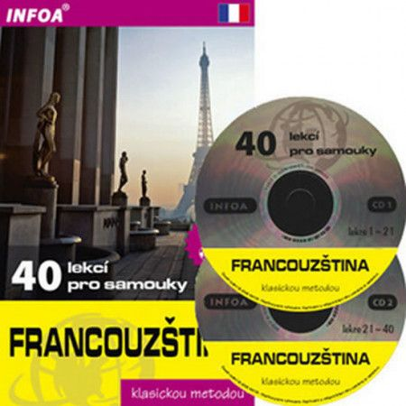 Sylviane Nouschi: Francouzština - 40 lekcí pro samouky + 2 CD cena od 317 Kč