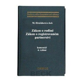 Milana a kolektiv Hrušáková: Zákon o rodině Zákon o registrovaném partnerství cena od 858 Kč
