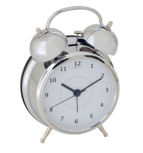 NEXTIME Wake Up 12,5 cm bílá/stříbrná