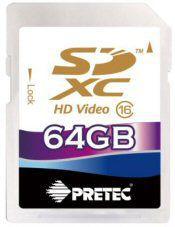 PRETEC SDXC 64 GB (class 16)