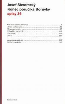 Josef Škvorecký: Konec poručíka Borůvky (spisy - svazek 36) cena od 221 Kč