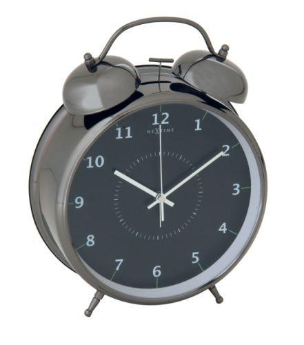 NEXTIME Wake Up 9 cm černá