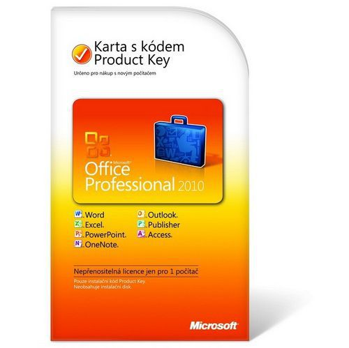 MICROSOFT Software Microsoft Office Professional 2010 CZ aktivační klíč