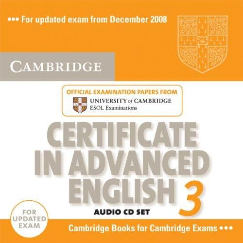 Cambridge university press CD Certificate in Advanced English 3 cena od 552 Kč