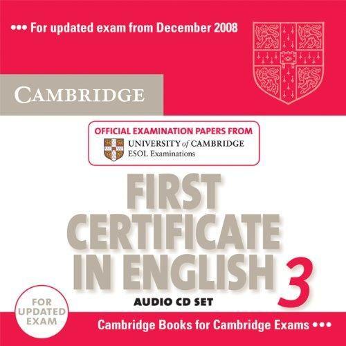 Cambridge university press CD First Certificate in English 3 cena od 612 Kč