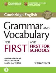 Cambridge university press Grammar for First Certificate with answers + CD cena od 755 Kč