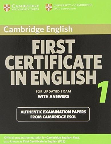 Cambridge university press First Cetificate in English 1 with answers cena od 456 Kč