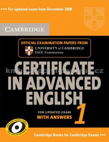 Cambridge university press Cerificate in Advanced English 1 with answers cena od 448 Kč