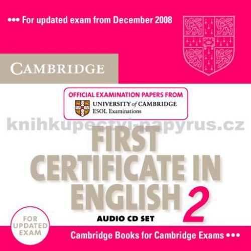 Cambridge university press CD First Certificate in English 2 cena od 612 Kč