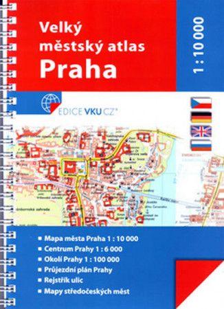Velký městský atlas Praha 1:10 000 cena od 225 Kč