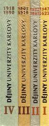 Karolinum Dějiny Univerzity Karlovy soubor 1.,2.,3.,4. díl cena od 596 Kč