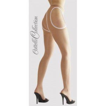 Cottelli Collection Punčochové kalhoty s dírou tělové