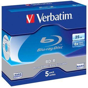 Verbatim BD-R 25GB 6x 5ks v krabičce
