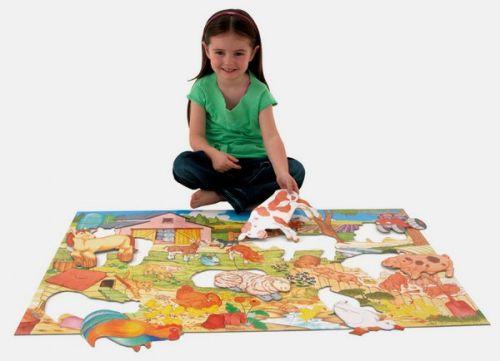 Galt: Velké podlahové puzzle – na farmě cena od 373 Kč