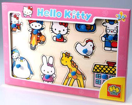 SES Hello Kitty - dřevěné puzzle cena od 95 Kč