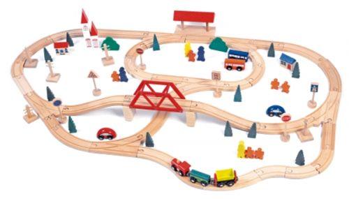 Woody Vláčkodráha s mostem a nádražím, 90dílů