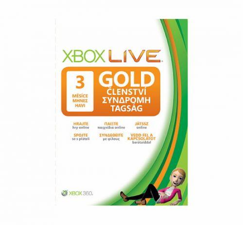 Microsoft Xbox 360 Live 3 měsíce Gold Card CS/EL/HU