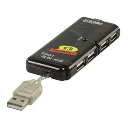basicXL USB rozbočovač 4x USB černý