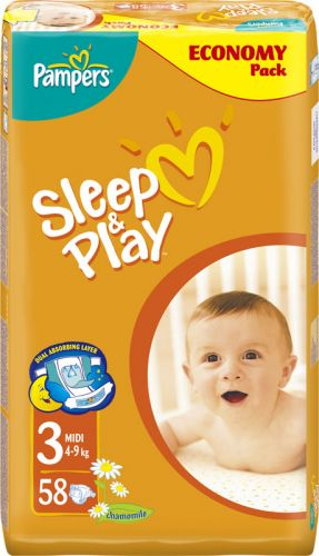 Pampers Sleep&Play 3 Midi - 58 ks