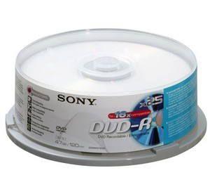 SONY DVD-R 25ks cakebox