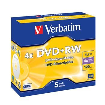 VERBATIM 4.7GB 4x jewel box 5ks cena od 178 Kč