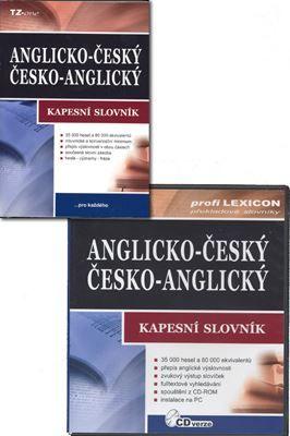 Anglicko-český/česko-anglický kapesní slovník + CD-ROM cena od 100 Kč