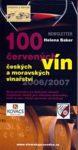 Helena Baker: 100 červených vín českých a moravských vinařství cena od 81 Kč