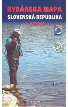 VKÚ Rybárska mapa Slovenská republika 1:250 000 cena od 124 Kč
