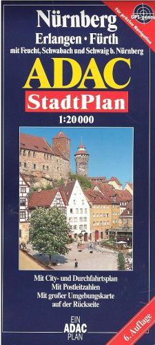 SHOCART Nürnberg Erlangen Fürth Stadt Plan 1: 20 000 cena od 110 Kč