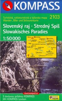 Slovenský raj Stredný Spiš 1:50 000 cena od 132 Kč