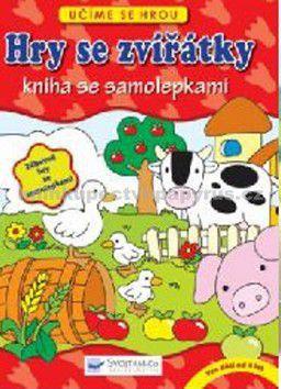 Hry se zvířátky Kniha se samolepkami cena od 114 Kč