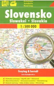 Freytag-Berndt Slovensko Slowakei Slovakia 1:500 000 cena od 57 Kč
