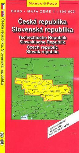 Marco Polo Česká, Slovenská republika 1:800T cena od 52 Kč