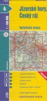 Kartografie PRAHA Jizerské hory, Ćeský ráj 1:100 000 cena od 18 Kč