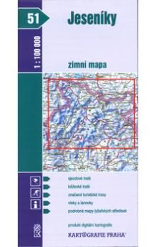 Kartografie PRAHA Jeseníky zimní mapa 1:100 000 cena od 51 Kč