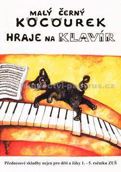 JASTO Malý černý kocourek hraje na klavír cena od 77 Kč
