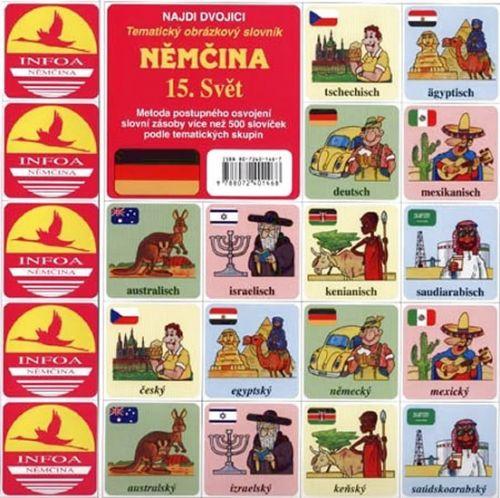 INFOA Němčina 15.Svět - pexeso cena od 34 Kč