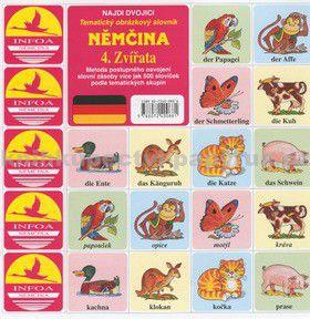 Antonín Šplíchal: Najdi dvojici Němčina 4. Zvířata cena od 25 Kč