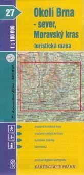 Kartografie PRAHA Okolí Brna - sever, Moravský kras 1:100 000 cena od 15 Kč