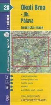 Kartografie PRAHA Okolí Brna - jih, Pálava 1:100 000 cena od 15 Kč