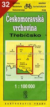 Kartografie PRAHA TM 32 Českomor.vrch. Třebíčsko cena od 36 Kč