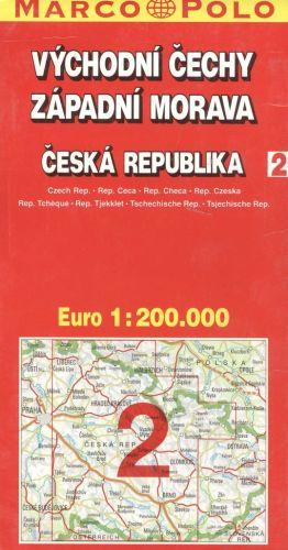 Marco Polo ČR 2 Východní Čechy, Západní Morava 1:200 000 cena od 74 Kč
