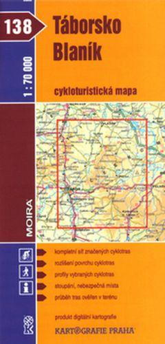 Kartografie PRAHA Táborsko Blaník cykloturistická mapa 1:70 000 cena od 21 Kč