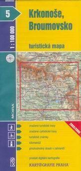 Kartografie PRAHA Krkonoše, Broumovsko 1:100 000 cena od 13 Kč