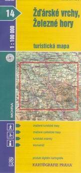 Kartografie PRAHA Žďárské vrchy, Železné hory 1:100 000 cena od 15 Kč